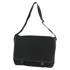 messenger bag  unisex  shoulder bag  black x silver hardware