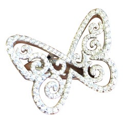 Messika Butterfly Arabesque Ring in 18 Karat White Gold Set with Diamonds
