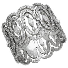 "Messika Diamond ""Lace"" Ring in 18 Karat White Gold"