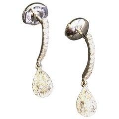 Messika Joy Sleeper Pear Shaped Diamond Drop Earrings in 18 Karat White Gold