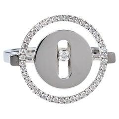 Messika Lucky Move Diamond 18K White Gold Ring Size 50.5