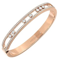 Messika Move Semainier Bracelet in 18 Karat Pink Gold Set with Diamonds
