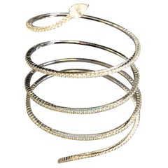 Messika Skinny Snake Diamond Bracelet in 18 Karat White Gold