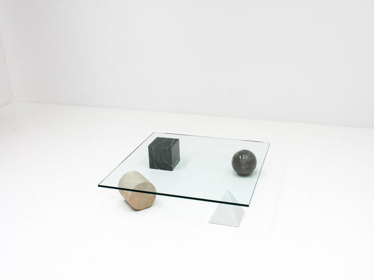 Post-Modern 'Metafora' Coffee Table by Massimo and Lella Vignelli for Casigliani Italy, 1979 For Sale