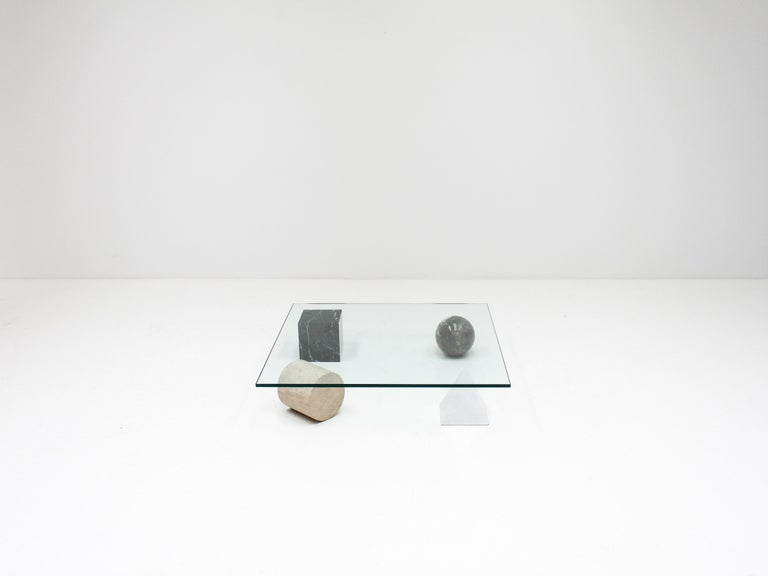 20th Century 'Metafora' Coffee Table by Massimo and Lella Vignelli for Casigliani Italy, 1979 For Sale