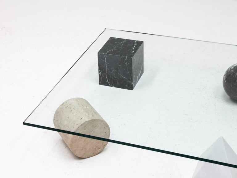 Glass 'Metafora' Coffee Table by Massimo and Lella Vignelli for Casigliani Italy, 1979 For Sale