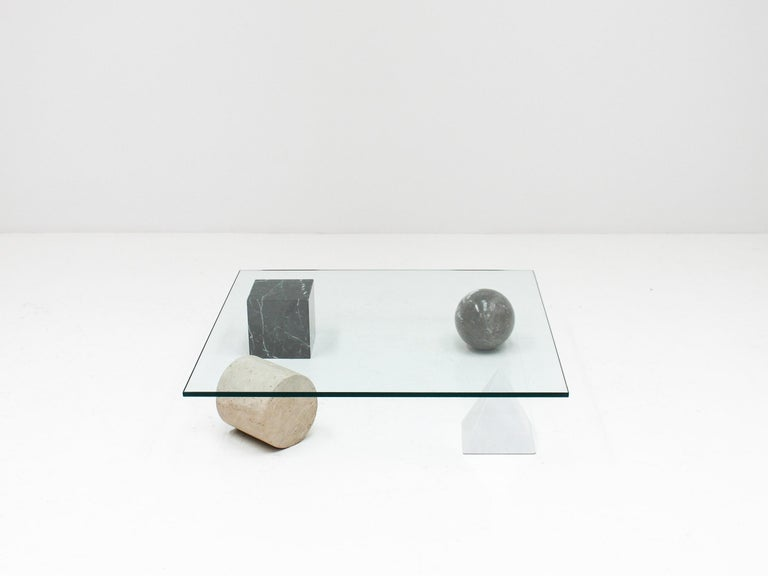 'Metafora' Coffee Table by Massimo and Lella Vignelli for Casigliani Italy, 1979 For Sale 1