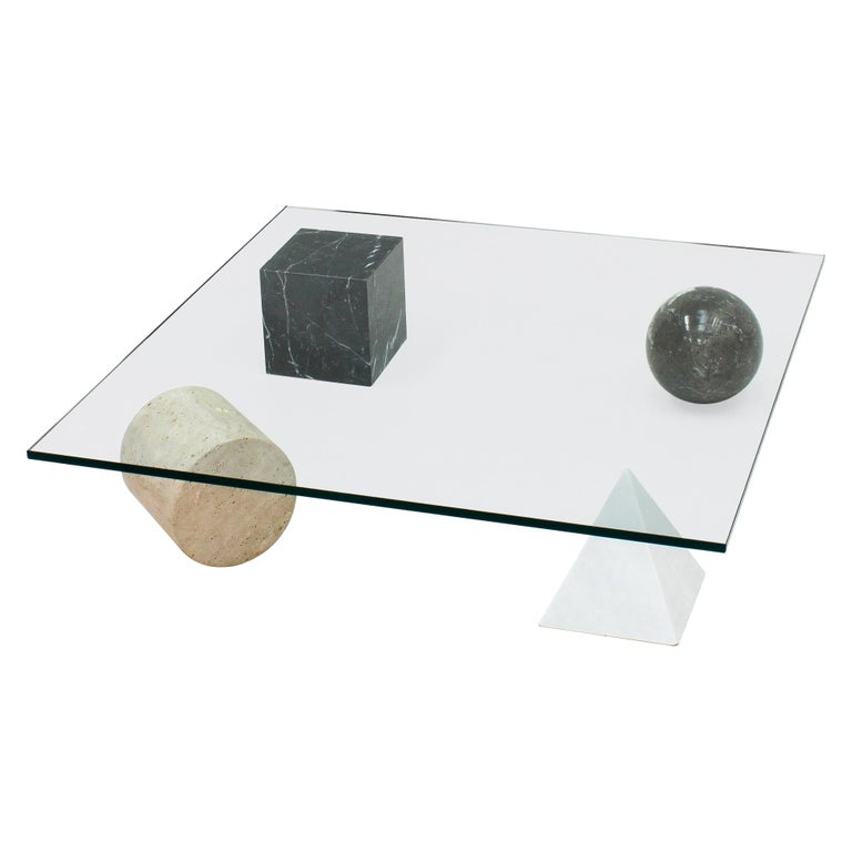 'Metafora' Coffee Table by Massimo and Lella Vignelli for Casigliani Italy, 1979 For Sale