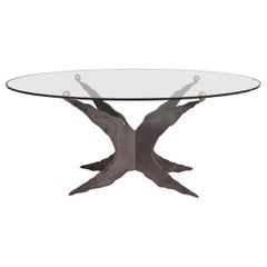 Metal and Glass Dinning Table