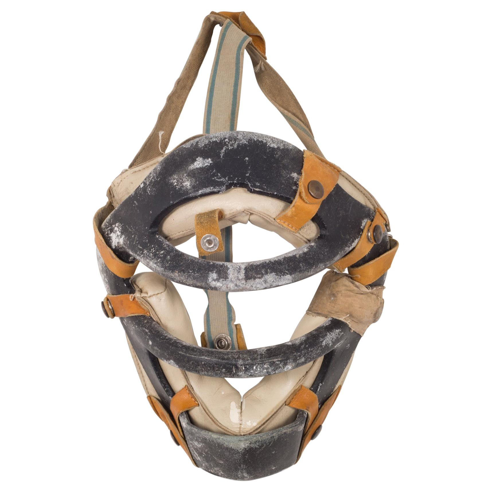 Metal and Leather Catcher's Mask, c.1920