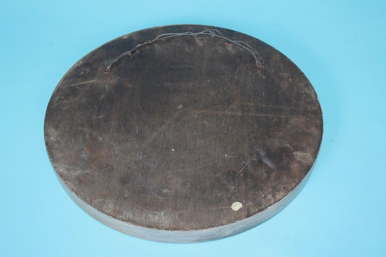 Mid-20th Century Metal and Wood Wall Mirror For Sale