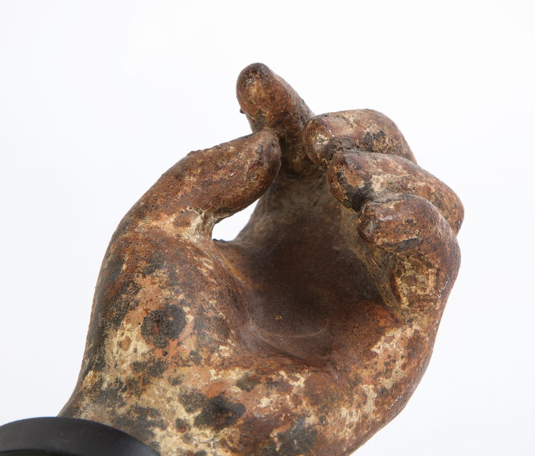 Metal Arm Fragment on Metal Stand, 20th Century For Sale 4