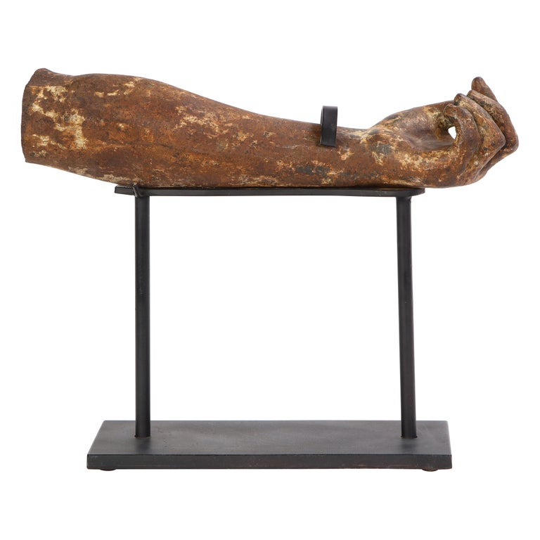 Metal Arm Fragment on Metal Stand, 20th Century For Sale