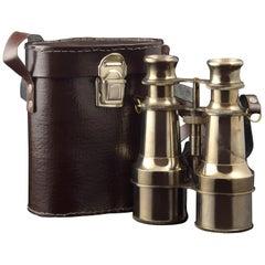 Metal Binoculars with Case, 20th Century