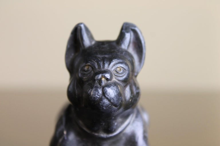 Metal Bulldog Paperweight Figurine Early 20th Century For Sale 5