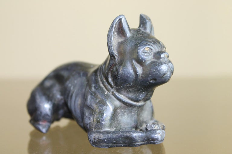 Metal Bulldog Paperweight Figurine Early 20th Century For Sale 6