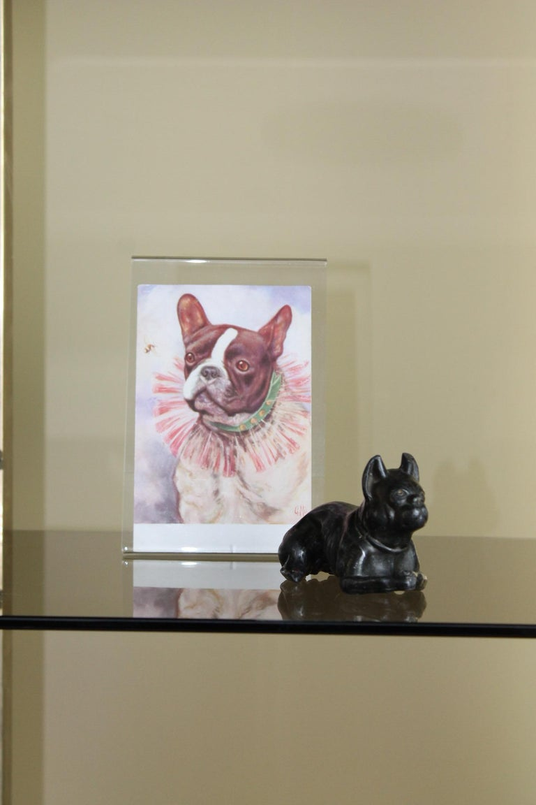 Metal Bulldog Paperweight Figurine Early 20th Century For Sale 10