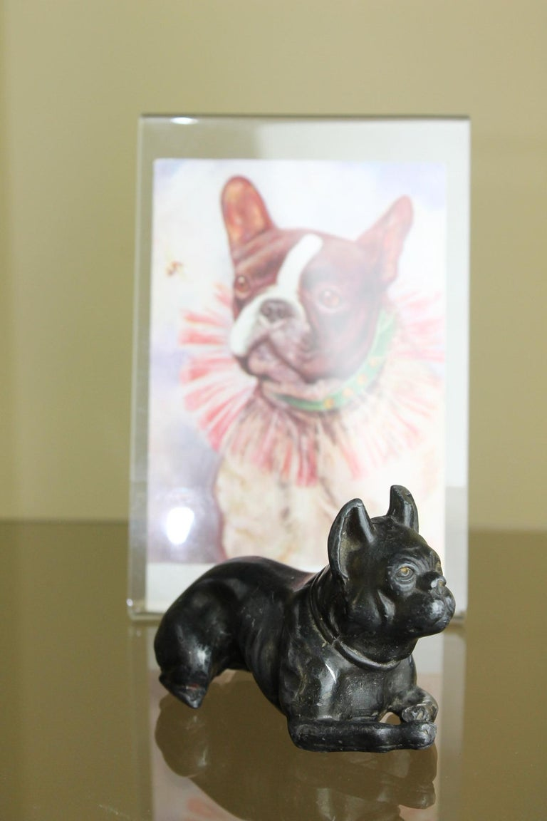 Metal Bulldog Paperweight Figurine Early 20th Century For Sale 11
