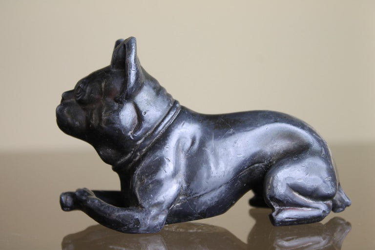 Metal Bulldog Paperweight Figurine Early 20th Century For Sale 2