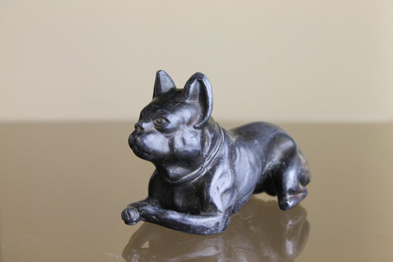 Metal Bulldog Paperweight Figurine Early 20th Century For Sale 3