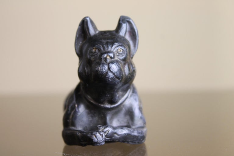 Metal Bulldog Paperweight Figurine Early 20th Century For Sale 4