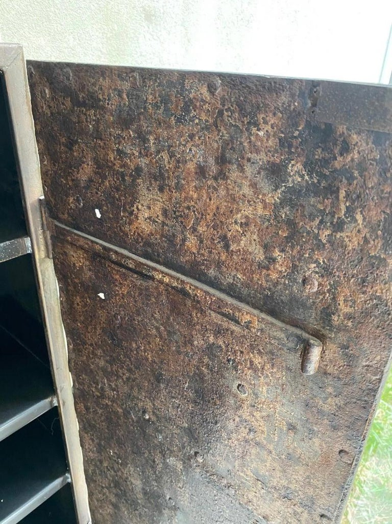 Metal Cabinet with Antique French Directoire Period Doors For Sale 7