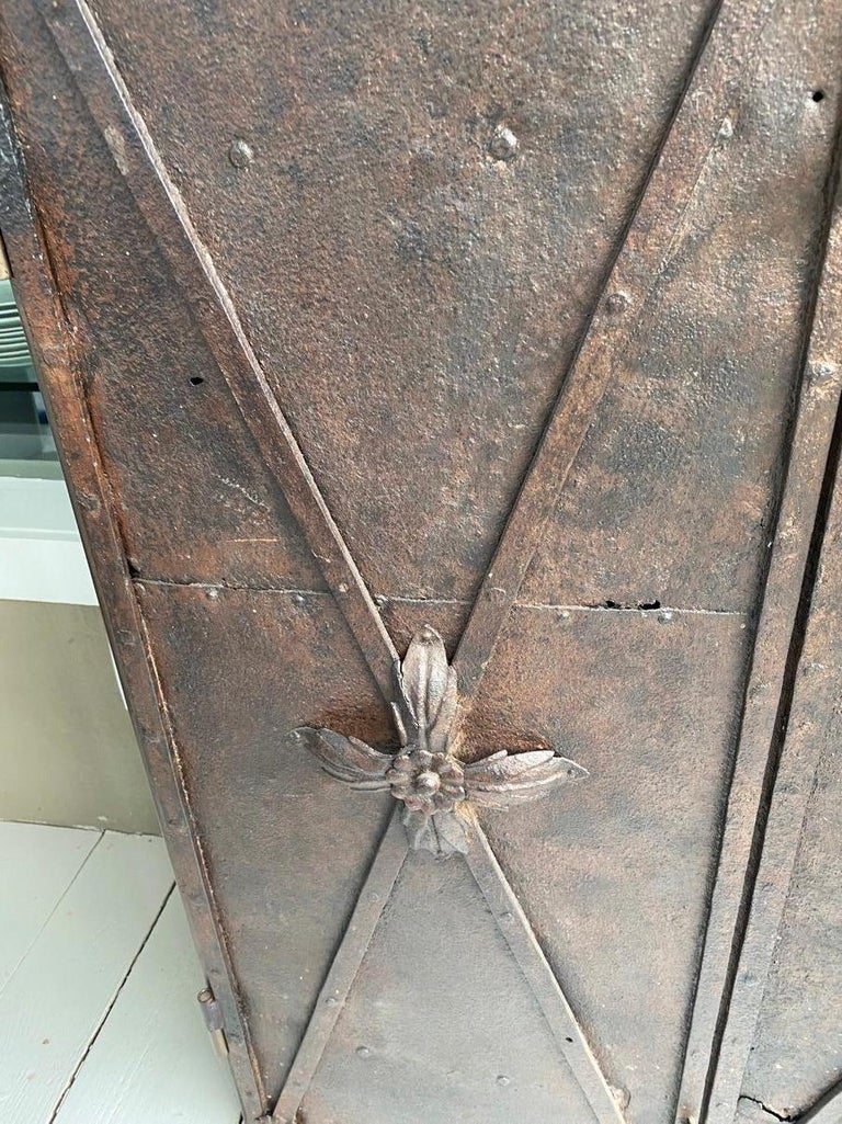 Metal Cabinet with Antique French Directoire Period Doors For Sale 1