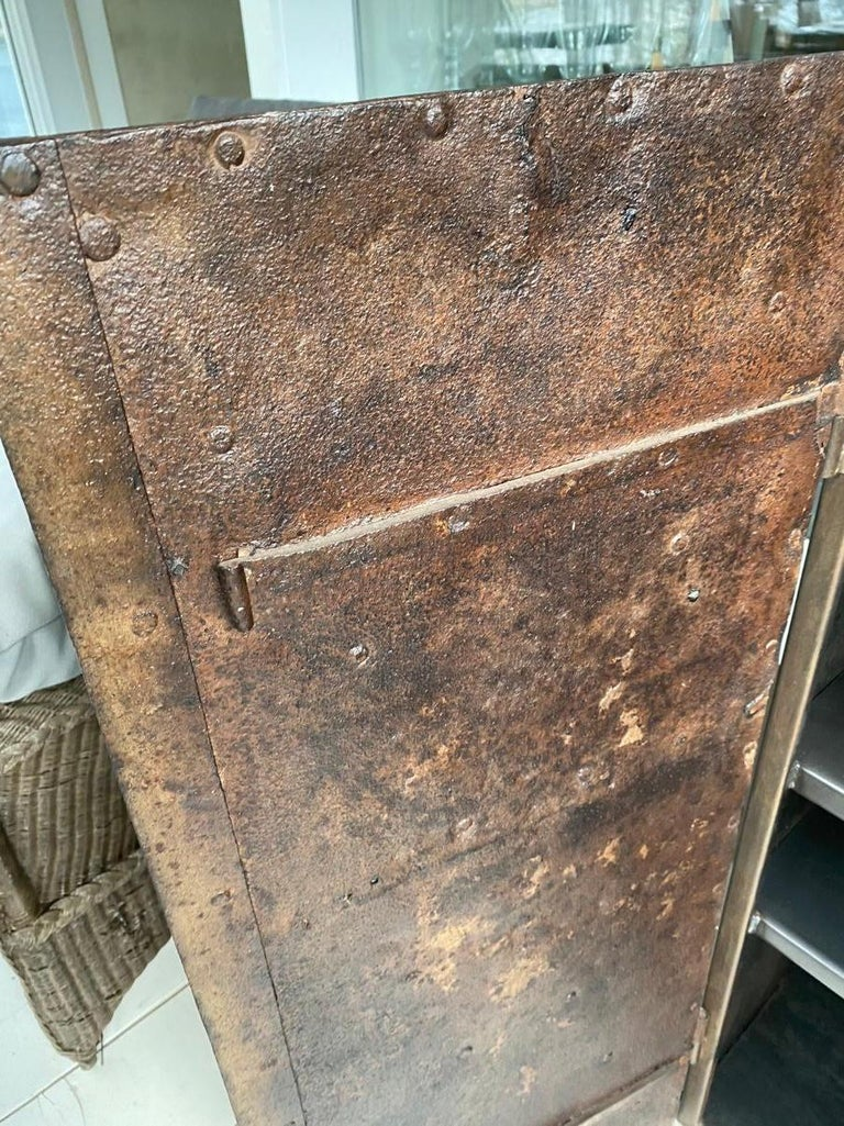 Metal Cabinet with Antique French Directoire Period Doors For Sale 3