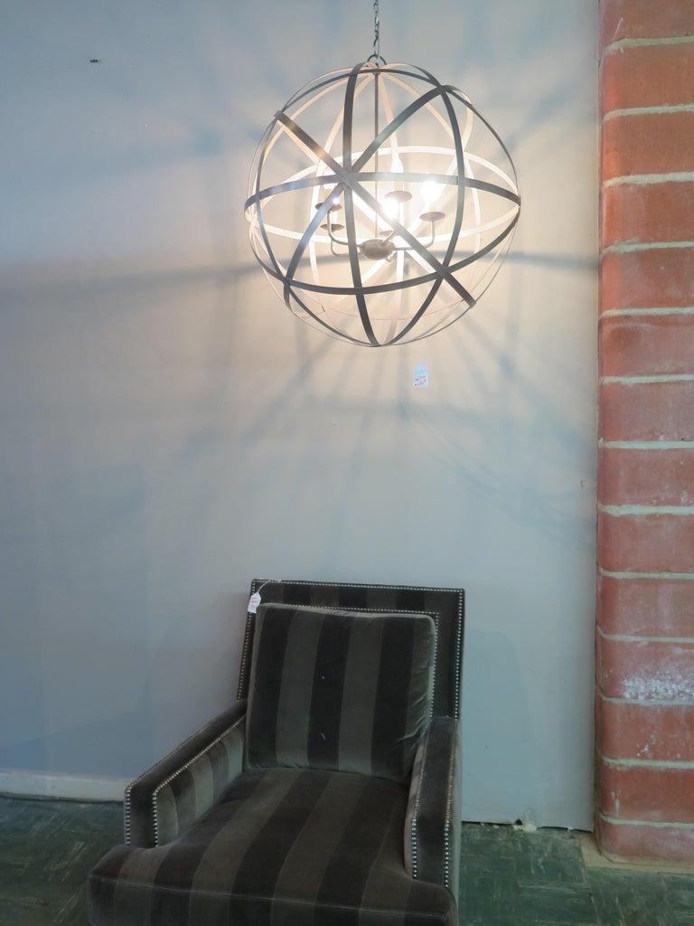 Metal spherical chandelier.