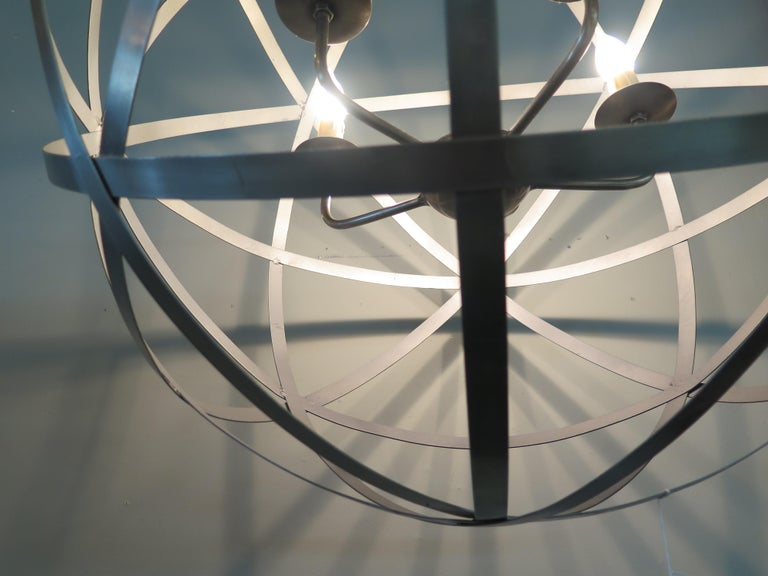Contemporary Metal Chandelier For Sale
