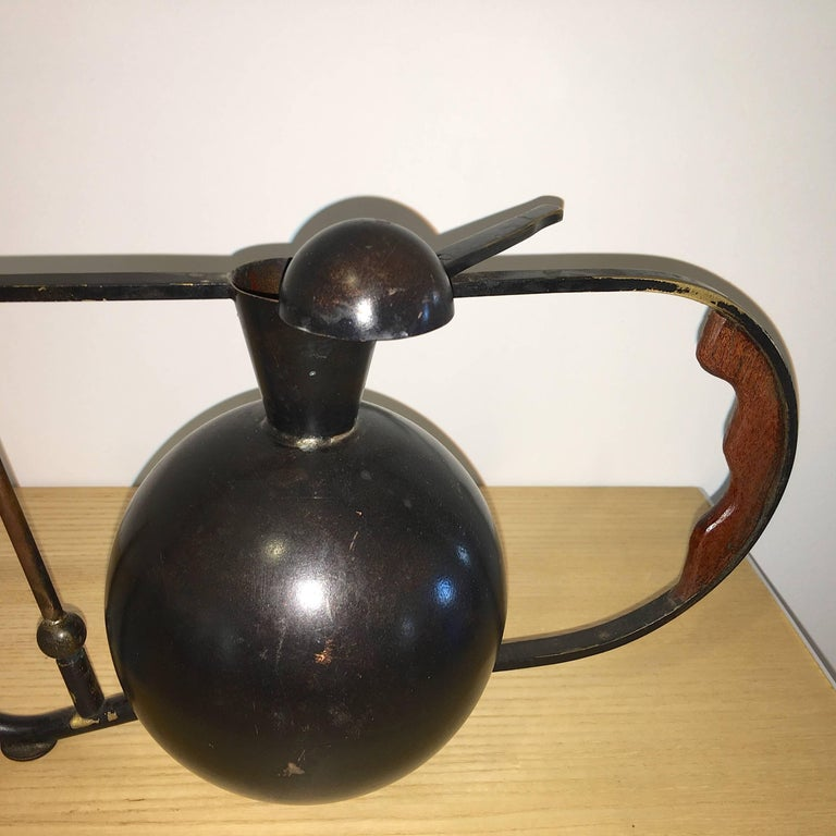 American Metal Crafted Brass and Copper Patinated Watering Can