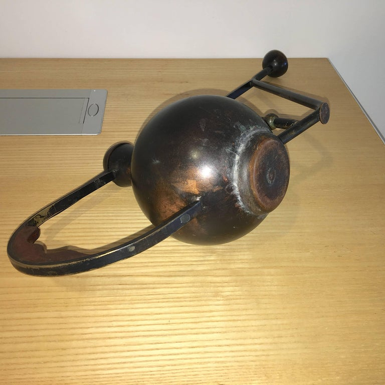 Metal Crafted Brass and Copper Patinated Watering Can 1