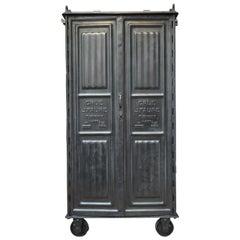 Metal Crane Industrial J.Faure Cupboard Cabinet by Firmini, 1910