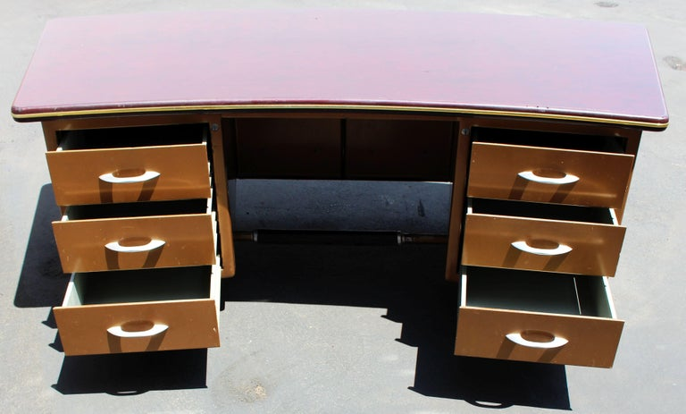 Mid-Century Modern Metal Desk by Duto Verona, Italy For Sale