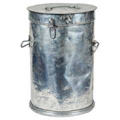 French Industrial Metal Factory Candy Bin or Stool