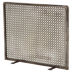 Metal Fireplace Screen in the Style of Mathieu Matégot, French, c. 1950