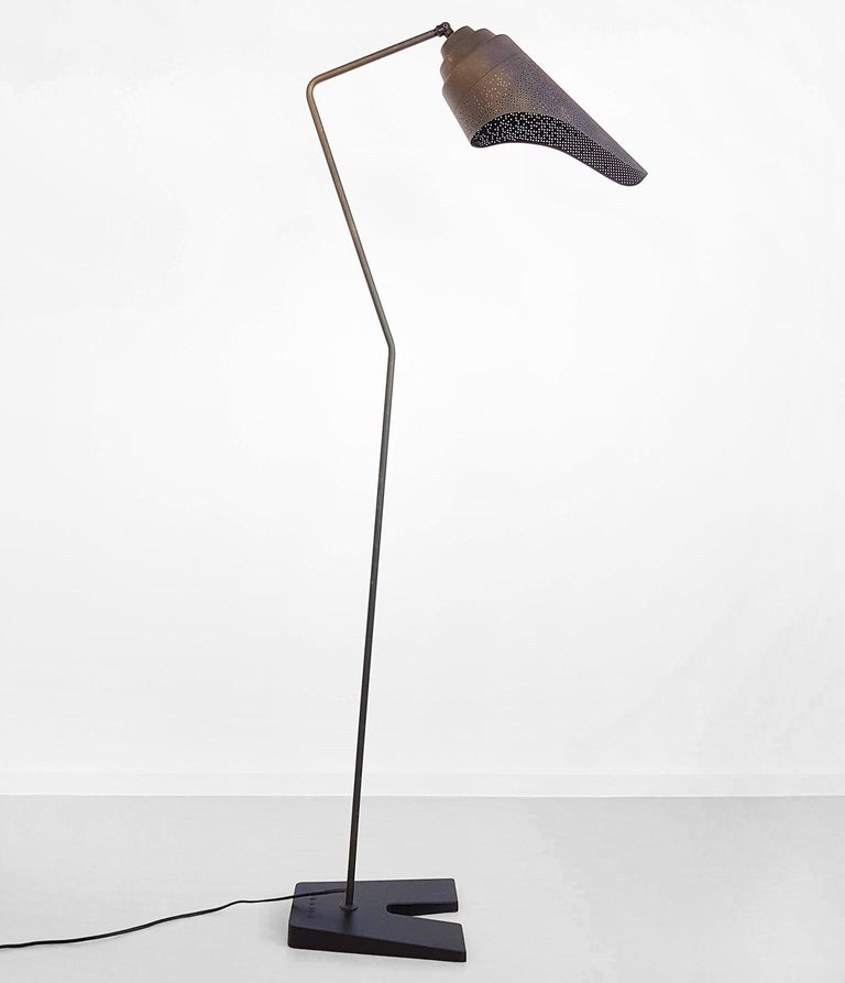 Bronzed Metal Floor lamp by Diesel with Foscarini For Sale