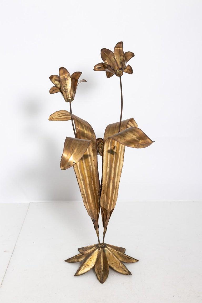 Metal Flower Sculpture For Sale at 1stdibs