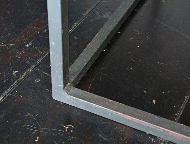 Metal Frame Geometric Cube Table For Sale 1