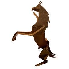 Metal Horse Art Sculpture by Jacqui Von Honts