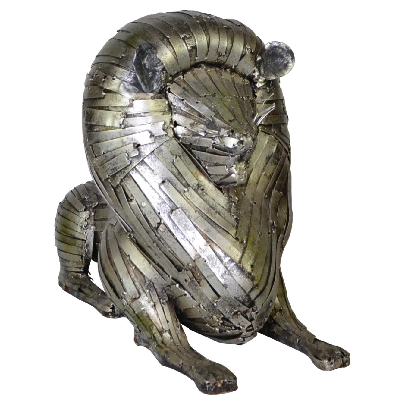 Metal Lion Sculpture