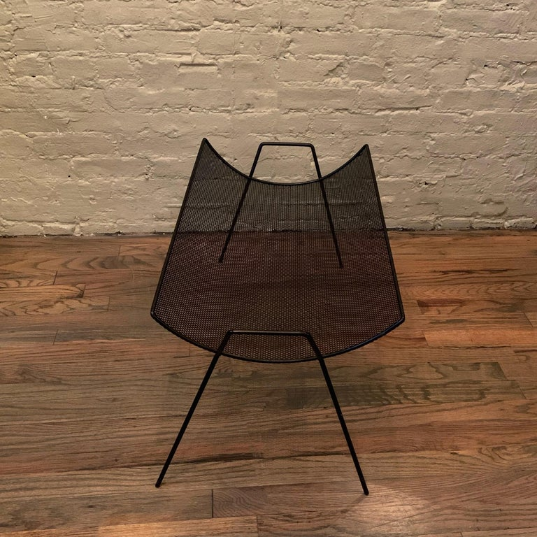 Mid-Century Modern Metal Mesh Magazine Holder by Sol Bloom for New Dimensions For Sale