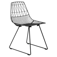 """Metal Outdoor Dining """"Lucy Chair"""" in Black by Bend Goods"""