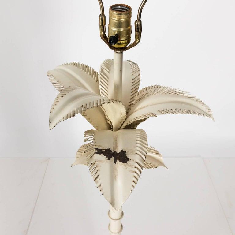 Metal Palm Tree Floor Lamp, circa 1960s For Sale at 1stdibs