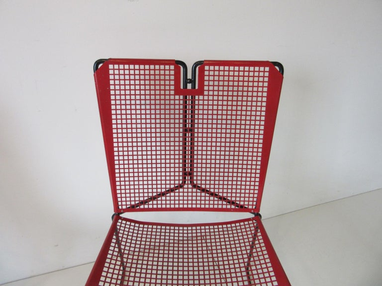 Metal Perforated Chairs in the Style of Mathieu Mategot  For Sale 4