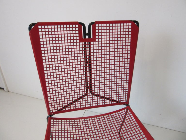 Metal Perforated Chairs in the Style of Mathieu Mategot  For Sale 2