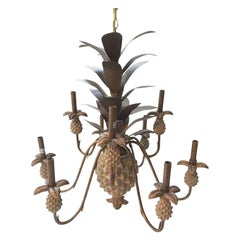 Metal Pineapple Nine-Arm Chandelier