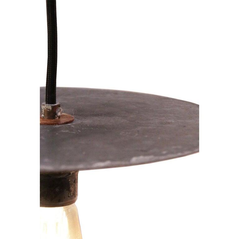Dutch Metal Plate Vintage Industrial Pendant Lights For Sale