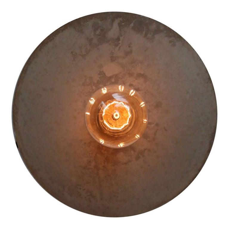 Cast Metal Plate Vintage Industrial Pendant Lights For Sale