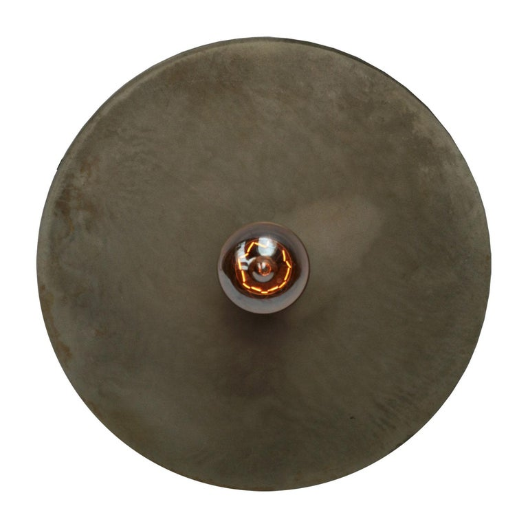 20th Century Metal Plate Vintage Industrial Pendant Lights For Sale